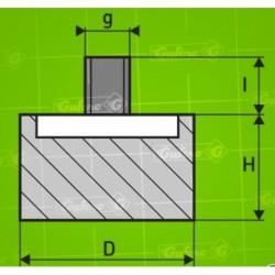 Silentblok GP - D70/12-H50 - d12