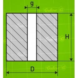 Silentblok GP - NBR 80 Sh A - D40/20-H45 - d20