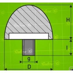 Silentblok KGD - D25 - H13 - M6/10mm