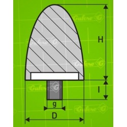 Silentblok F - D50 - H58 - M10/25mm