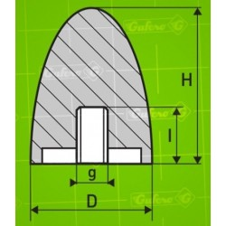 Silentblok FF - D50 - H68 - M10