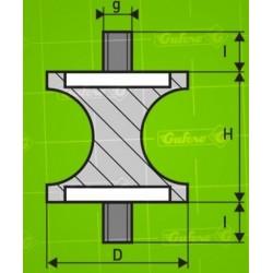 Silentblok TPA - D15-d12-H15 - M5/6mm
