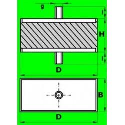 Silentblok S - 07.01 - AH 60x40x35-M10/17