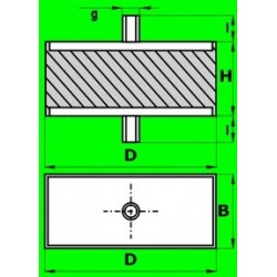 Silentblok S - 14.01 - AH 90x60x38-M12/27