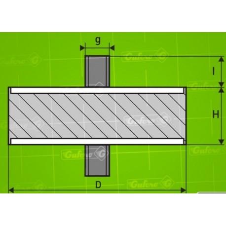 Silentblok AH 07.01 - D60 - B40 - H35 - M10/17mm