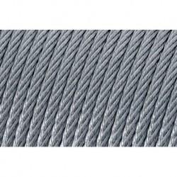 Lano ocelové ČSN024320 - (6x7+FC) 5,0/6,0 PVC