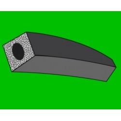 Mikroporézní šňůra - čtvercová - odlehčená - 10x10