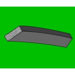 Mikroporézní šňůra - obdélniková - 8x13