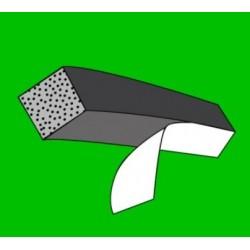 Mikroporézní šňůra - čtvercová - lepící - 10,0 x 10,0