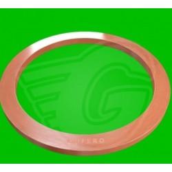 Plochý těsnící kroužek CU - 6,5 x 17 x 2