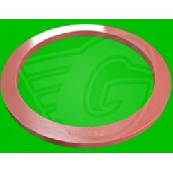 Plochý těsnící kroužek fíbr - 6 x 12 x 2