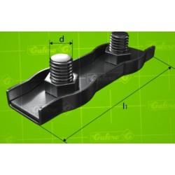 Lanová svorka DUPLEX - pozink - 8 mm