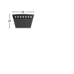 Klínový řemen 38 - 7180 Lw - 7100 Li