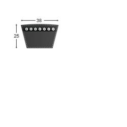 Klínový řemen 38 - 10600 Lw - 10520 Li